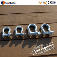 Electric Galvanized Us Type Forged Screw Pin Bow Shackle
